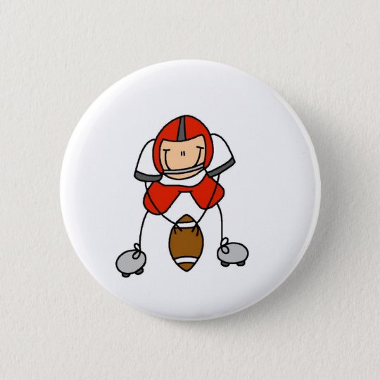 Red Football Player Button