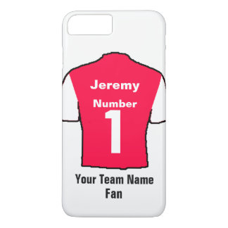 Red Football Shirt Choose name and team iPhone 8 Plus/7 Plus Case