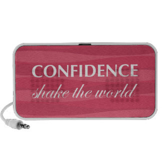 Red for Confidence iPod Speaker