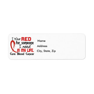 Red For Someone I Need Blood Cancer Return Address Label