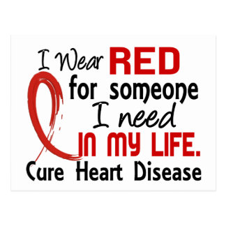 Red For Someone I Need Heart Disease Postcard