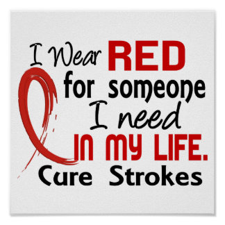 Red For Someone I Need Stroke Poster