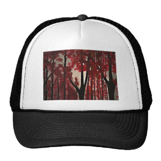 Red Forest Mesh Hat