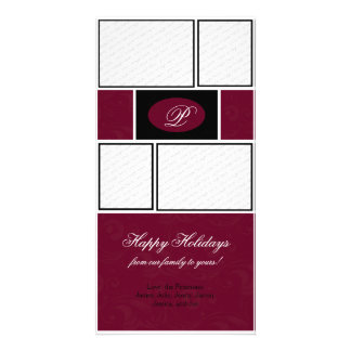 Red Formal Christmas Personalized Photo Card