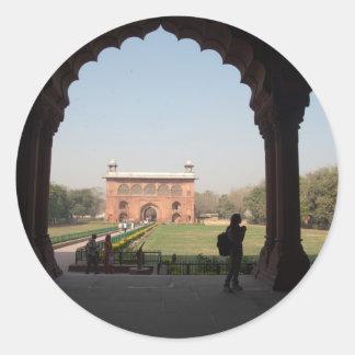 Red Fort in Delhi Round Stickers