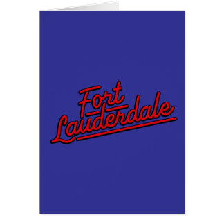 red Fort Lauderdale Greeting Card