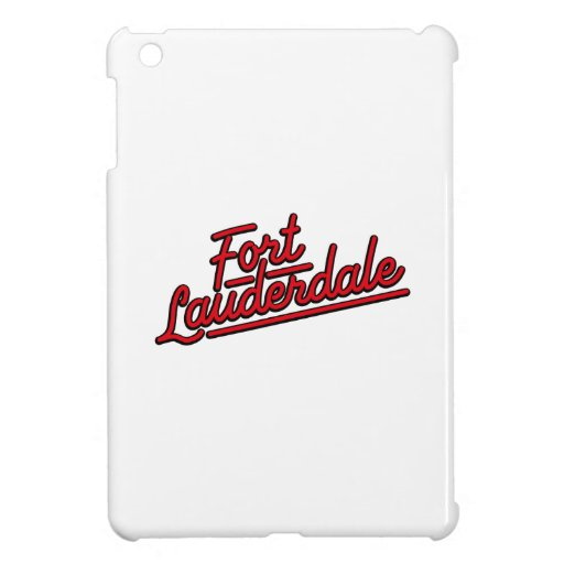 red Fort Lauderdale iPad Mini Cover