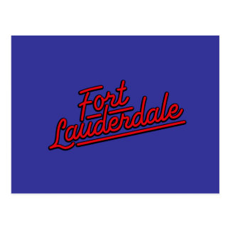 red Fort Lauderdale Postcard