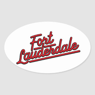 red Fort Lauderdale Stickers