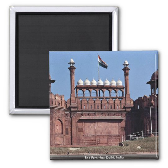 Red Fort, New Delhi, India Square Magnet