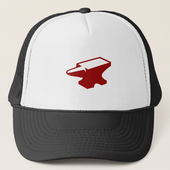 Red Foundry Anvil Trucker Hat