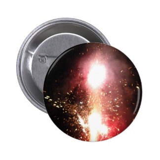 Red Fountain Flash 6 Cm Round Badge