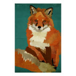 Red Fox Art Poster
