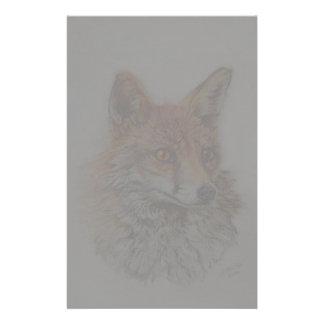 red fox art stationery design