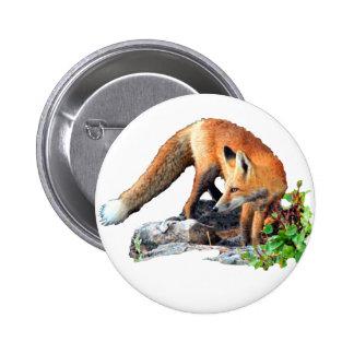 Red fox button