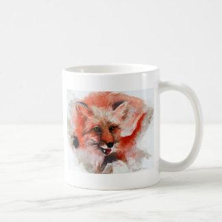 Red Fox Basic White Mug