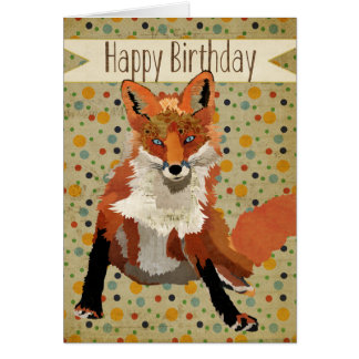 Red Fox Birthday Card