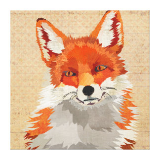 Red Fox Canvas Stretched Canvas Print