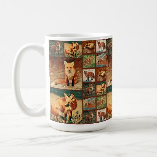 Red Fox Collage Coffee Mug