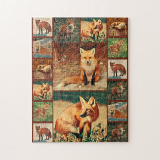 Red Fox Collage Jigsaw Puzzle