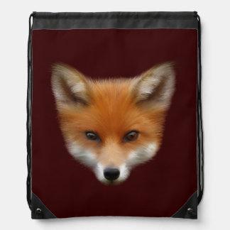 Red Fox Cub Drawstring Backpack