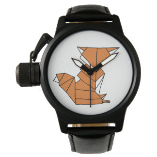 Red Fox Cubic Design Watch