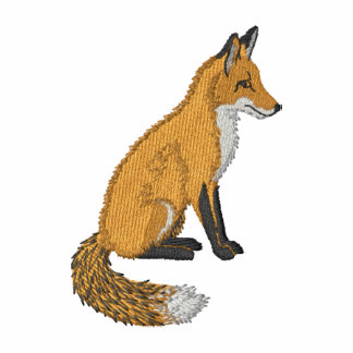 Red Fox Embroidered Hoody