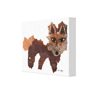 Red Fox Face Gallery Wrapped Canvas