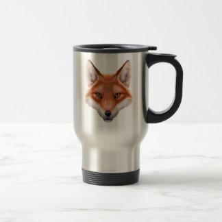 Red Fox Face Travel Mug