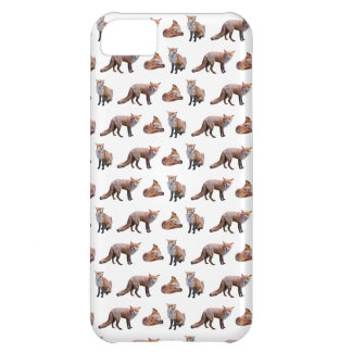 Red Fox Frenzy iPhone 5 Case (choose colour)