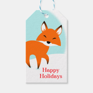 Red Fox Gift Tags