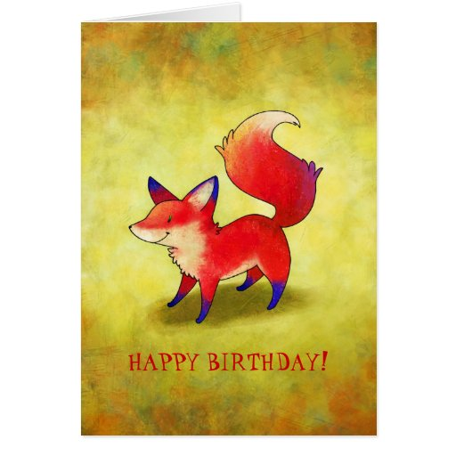 Red Fox Greeting Card(customisable) Greeting Card