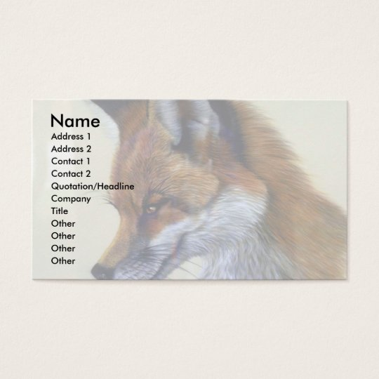 Red Fox (head study) Business Card
