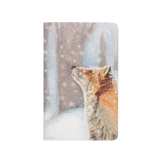Red Fox in a Snowy Woodland Painting Journals