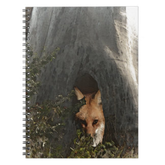 Red Fox in a Tree Gifts and Apparel Notebooks