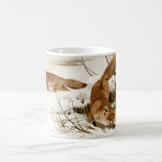 Red Fox in Winter Coffee Mug