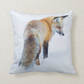 Red Fox in Winter Cushion