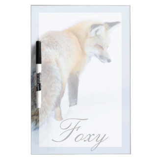 Red Fox in Winter Dry Erase Board