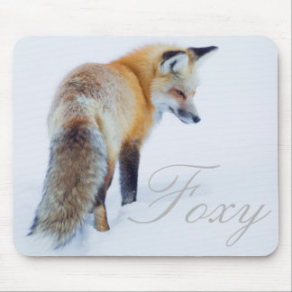 Red Fox in Winter Mouse Mat