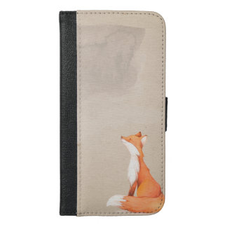 Red fox iPhone 6/6s plus wallet case