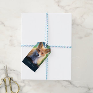Red Fox Laying in the Grass Scenic Thank You Gift Tags
