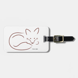 Red Fox Luggage Tag