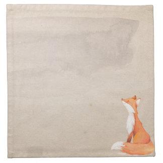 Red fox napkin