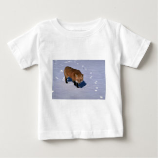 Red Fox on snow Baby T-Shirt