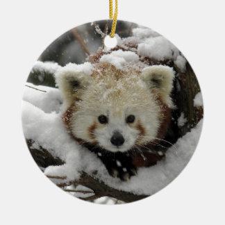 Red Fox Panda Bearcub Christmas Ornament