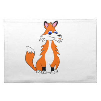 Red fox placemat
