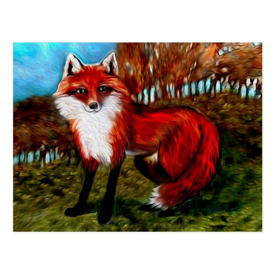 Red Fox Postcard