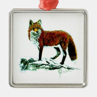 Red Fox Premium Square ornament