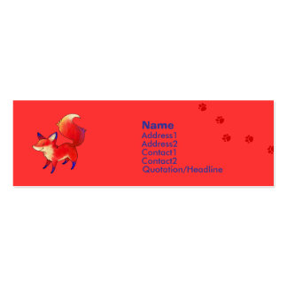 Red Fox Profile Card Pack Of Skinny Business Cards