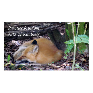 Red Fox Random Acts of Kindness Card Double-Sided Standard Business Cards (Pack Of 100)